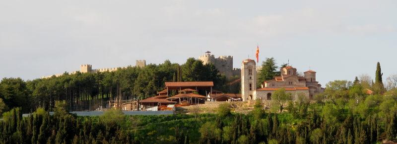 Ohri gölünden bir görüntü