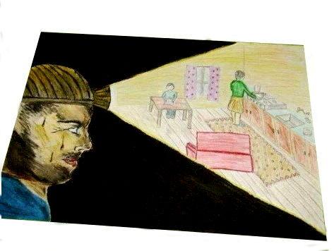 bir madenci çocuğunun yaptığı resim