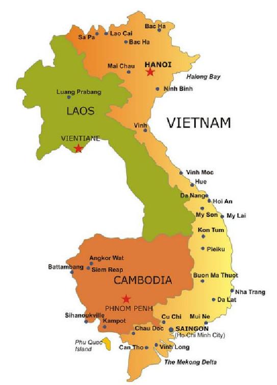 Vietnam - Laos - Kamboçya